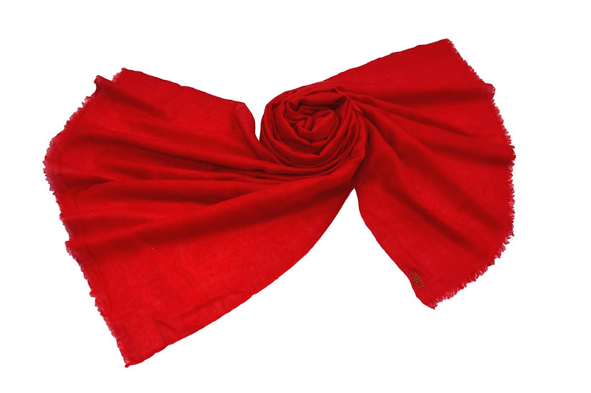 100% Cashmere - Pashmina from the Himalayas - red