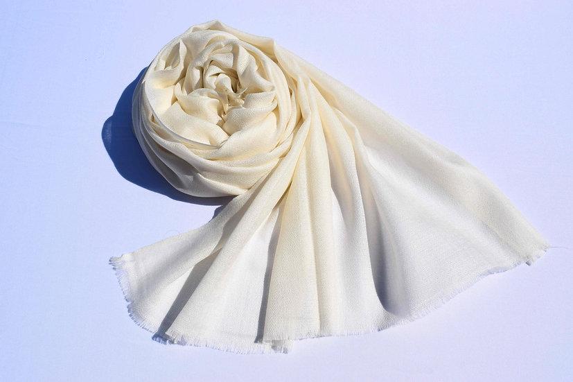Merino Wool Pashmina, white