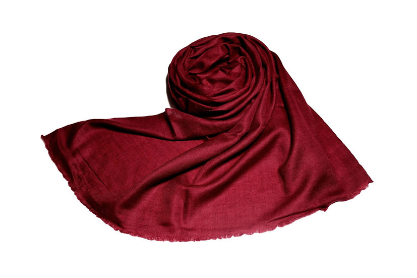 Handwoven Pure Cashmere Pashmina from the Himalayas - burgundy