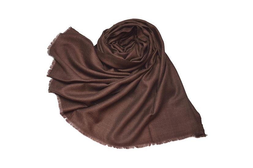 100% handgewebter Kaschmir - Pashmina dunkelbraun