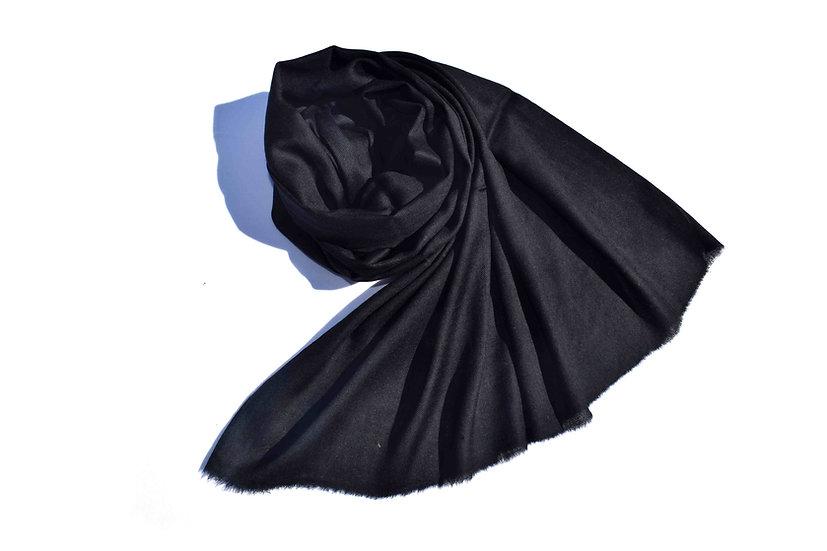 Merino - Wolle Pashmina, schwarz