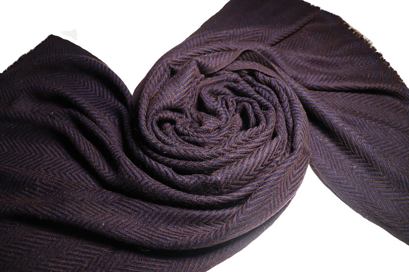 Handwoven Yak Wool Scarf XXL Unisex