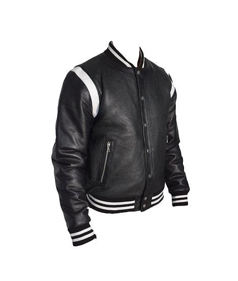 Bespoke Tailor Made Leather Jacket - black for men