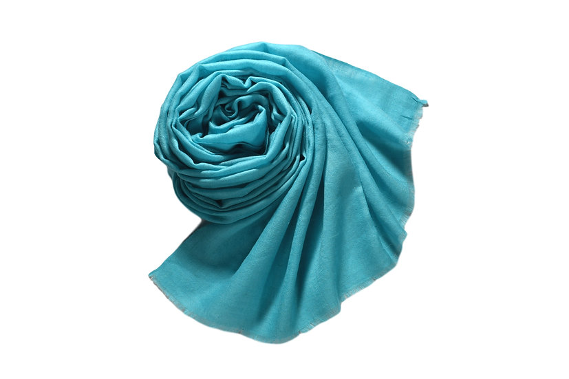 Handwoven 100% Cashmere Pashmina from the Himalayas Light Blue