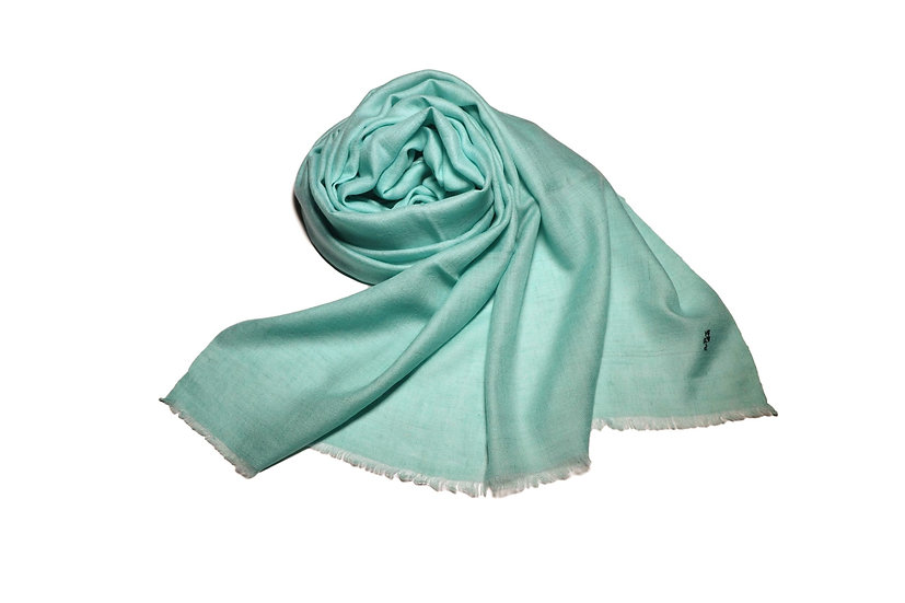 Handwoven 100% Cashmere Pashmina from the Himalayas - light turquoise