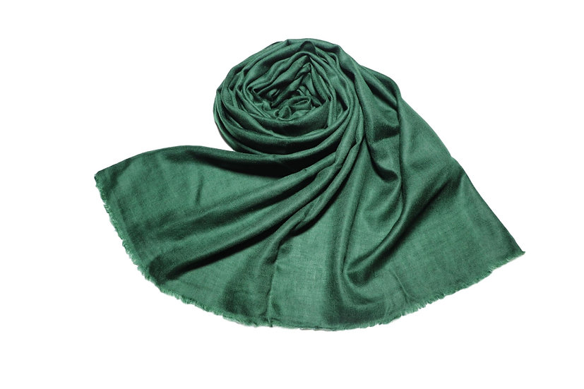 Pure Cashmere Pashmina from the Himalayas -dark green-green