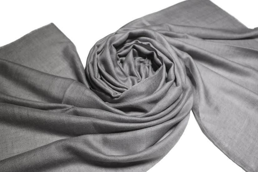 Handwoven 100% Cashmere Pashmina from the Himalayas - grey