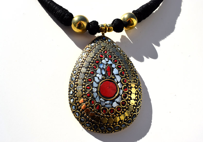 Handmade Necklace with Indian Stone