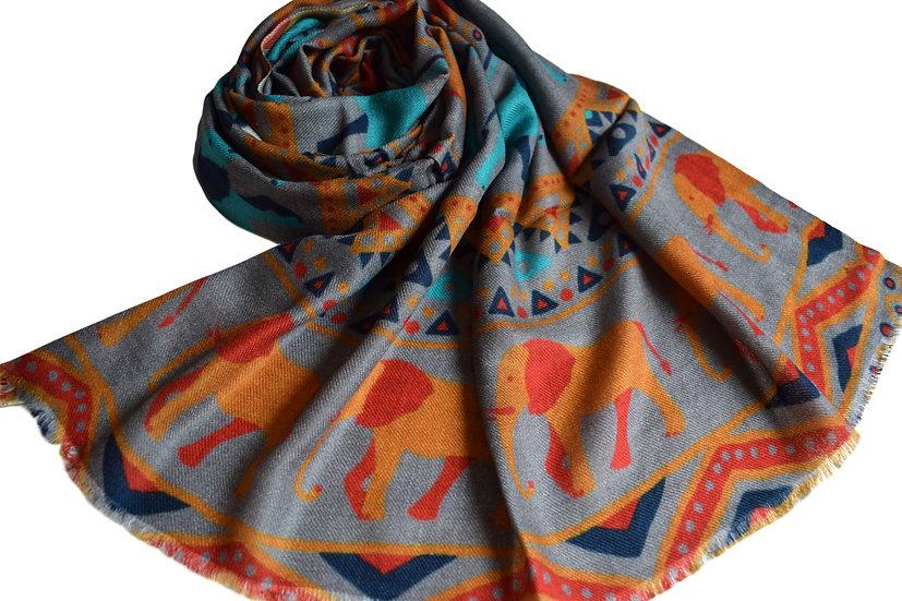 Merino Wool Pashmina printed (Africana)