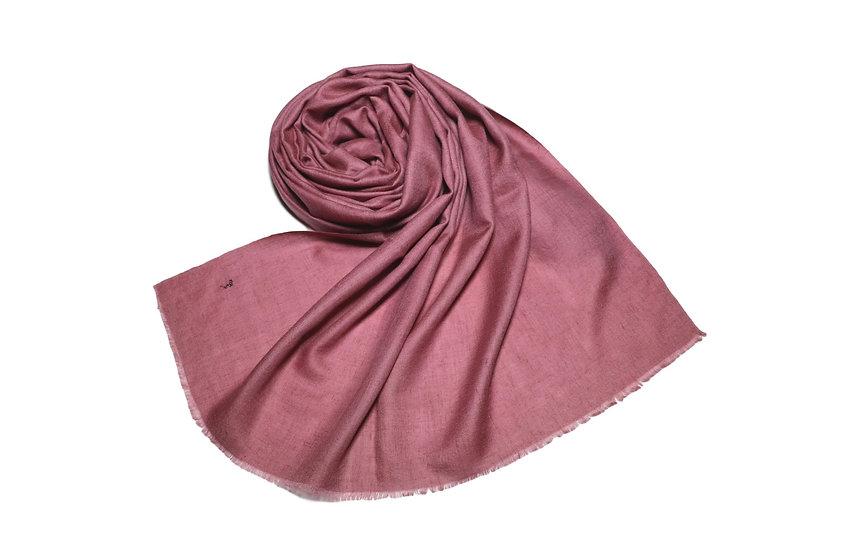 Handgewebter 100% Kaschmir - Pashmina aus dem Himalaya, altrosa