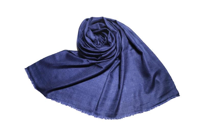 100% Kaschmir - Pashmina aus dem Himalaya, blau