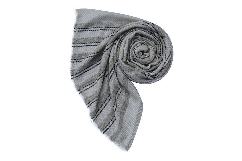 Handwoven Yak Wool Stole XXL Unisex