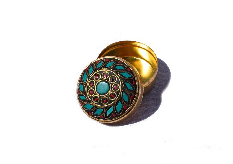 Handgemachte Indische Schmuckdose, klein