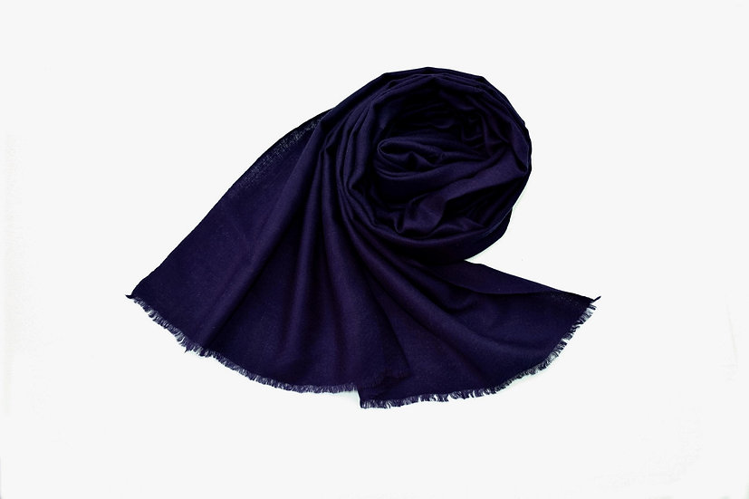 100% cashmere - Pashmina from the Himalayas - dark blue