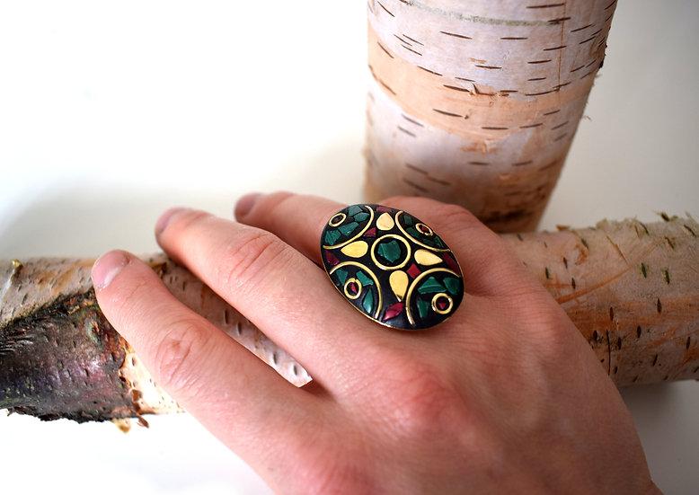 Handgemachter indischer Ring