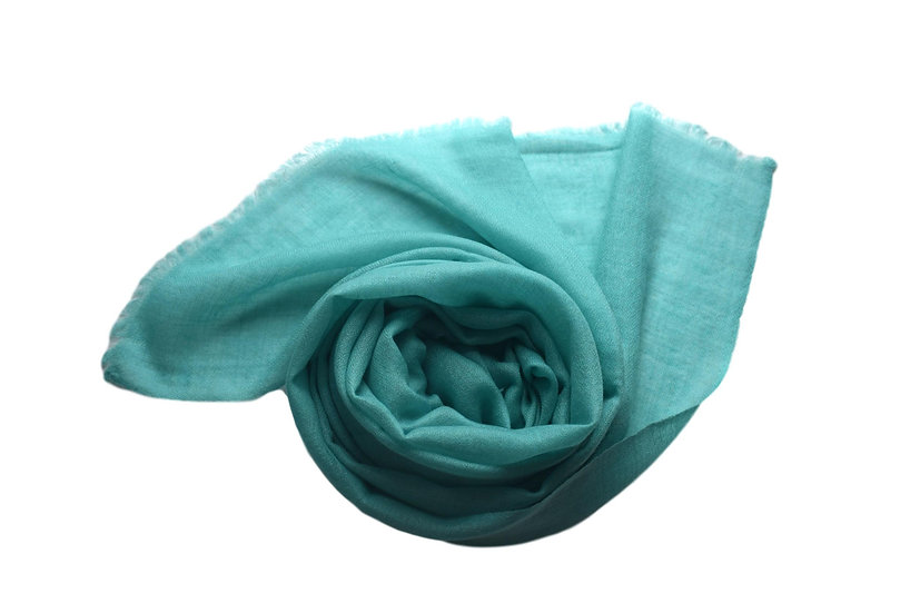 100% Cashmere - Pashmina from the Himalayas, light turquoise