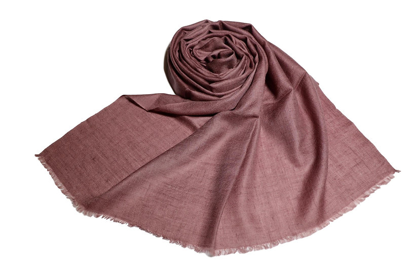 Handwoven 100% Cashmere Pashmina from the Himalayas - taupe brown color