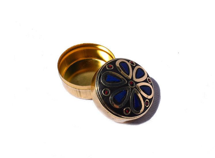 Handmade Indian jewelry box, small