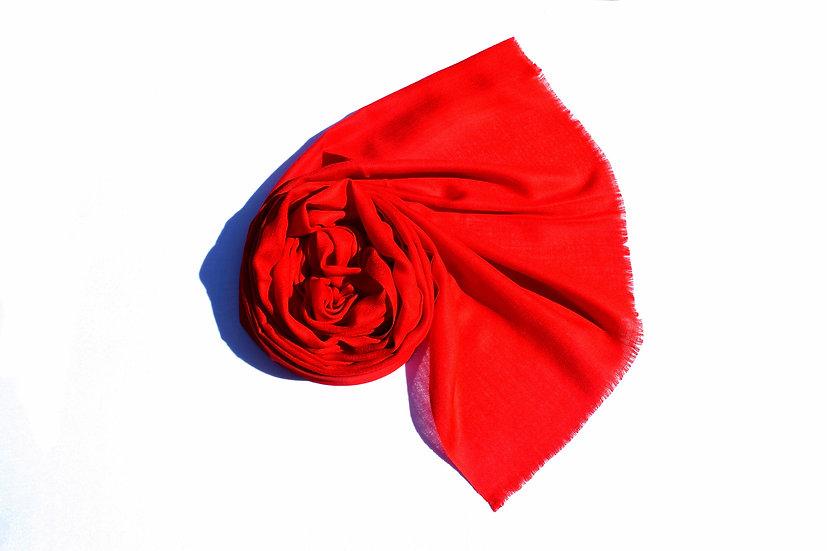 Merino Wool pashmina, red