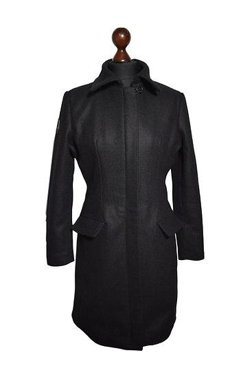 Maßgeschneiderter Wollmantel schwarz für Damen