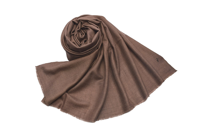 100% Handwoven Cashmere Pashmina Brown