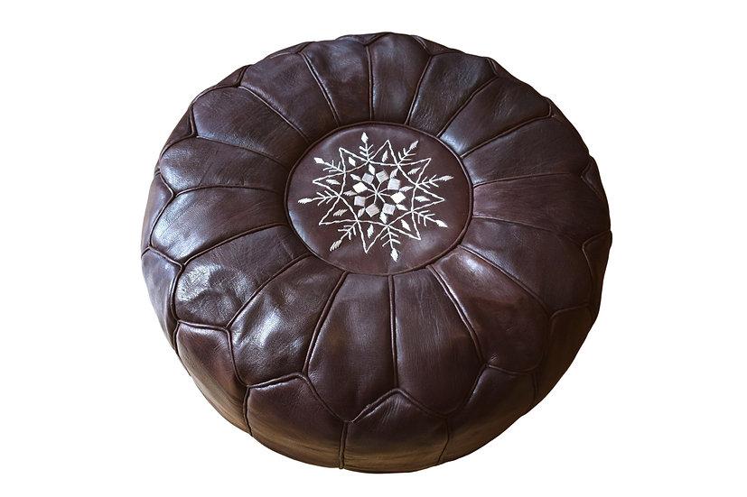 Handmade Moroccan Leather Pouf/Seat Cushion