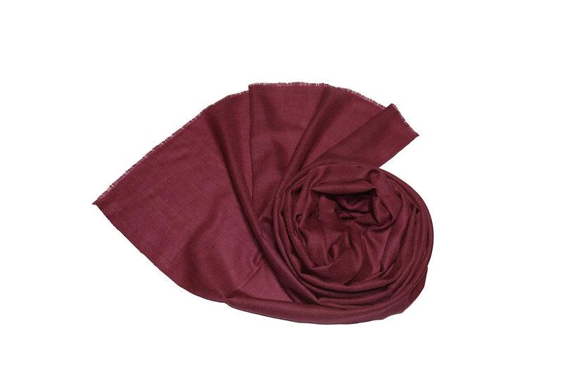 Handgewebter 100% Kaschmir - Pashmina aus dem Himalaya, dunkles bordeaux