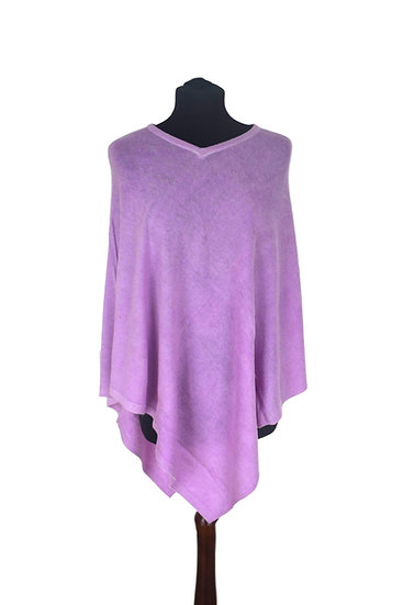 Classic Poncho with Merino Wool, pink