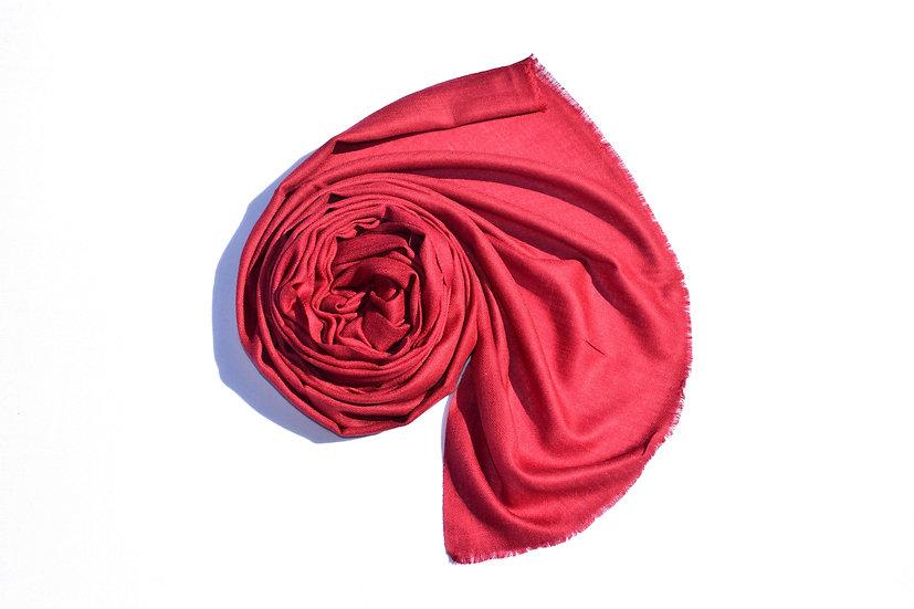 Merino Wool Pashmina, dark red bordeaux