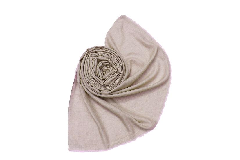 100% handgewebter Kaschmir - Pashmina aus dem Himalaya, beige