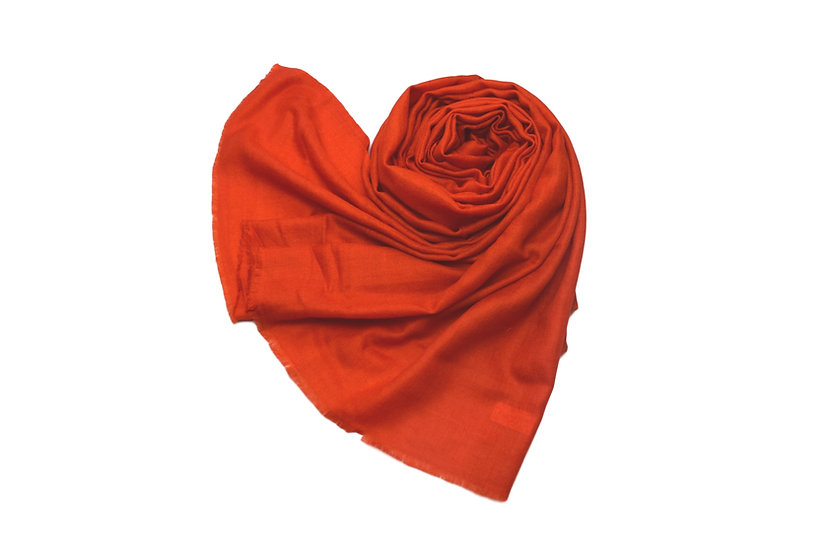 100% Handwoven Cashmere  Pashmina - Red