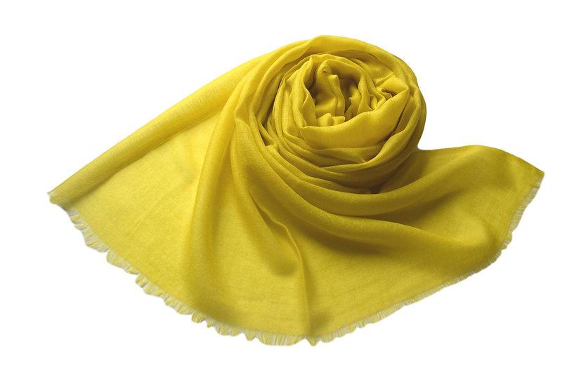 100% Cashmere - Pashmina from the Himalayas - yellow