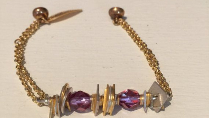 Gold tone bracelet with magnetic clasp,,6 .5 inches