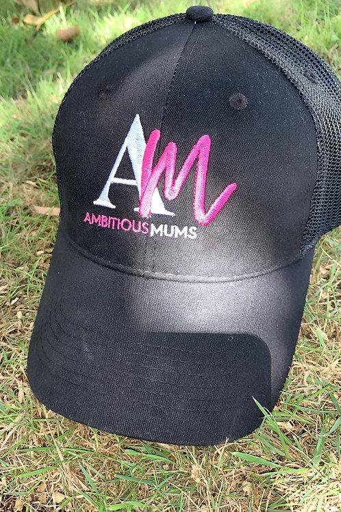 AM Black Ladies Trucker Cap