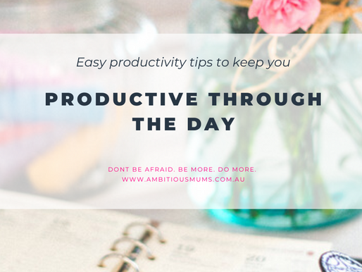 Easy productivity hacks to help you stay productive during your day.