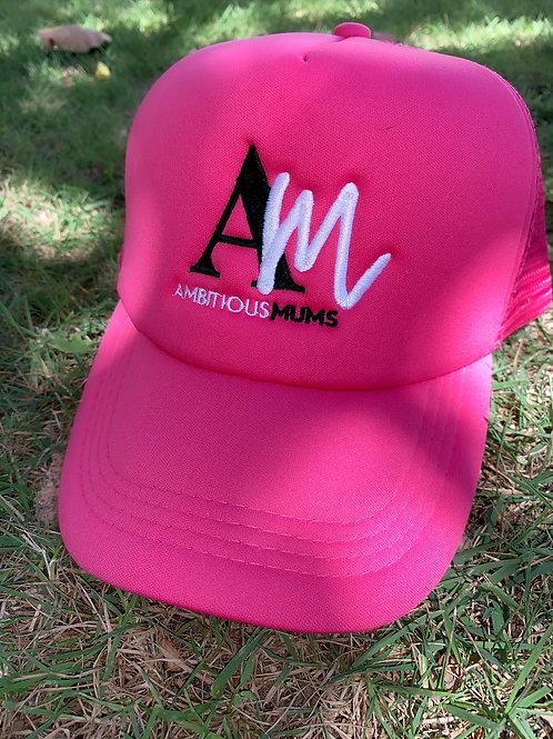 AM Hot Pink Ladies Trucker Cap