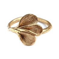 Gouden kelkjes ring