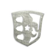 Zilveren broche van familiewapen