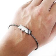 Zilveren armband met dendriet opaal