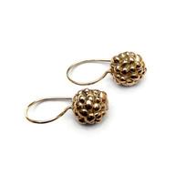 Gouden besjes oorbellen