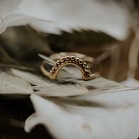 Geelgouden verlovingsring of aanschuifring