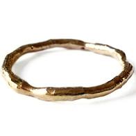 Gouden vloeiende ring