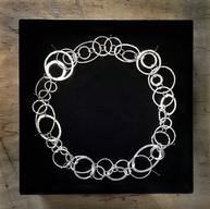 Zilveren collier met allemaal unieke schakels