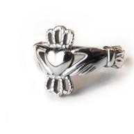 Zilveren claddagh ring