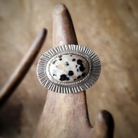 Zilveren ring met dalmatier jaspis