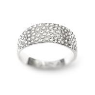 Zilveren rog ring