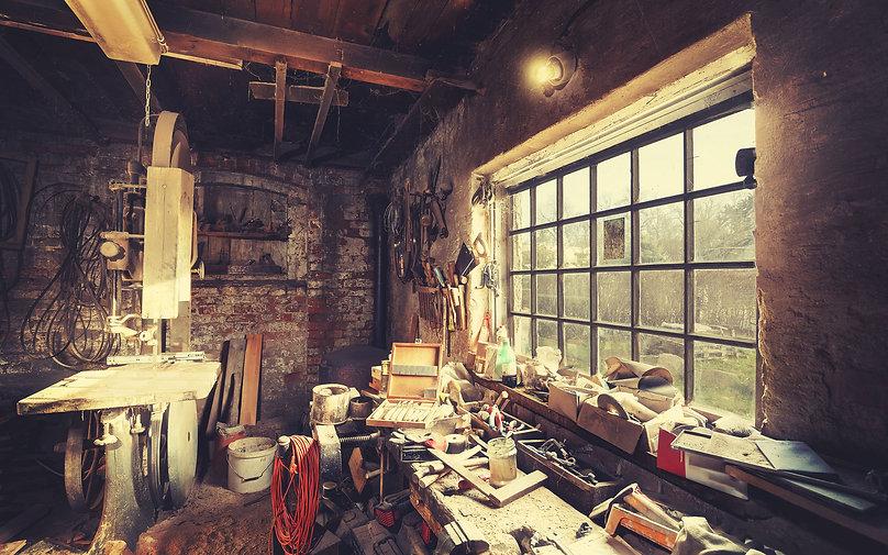 Picture of old studio workshop.