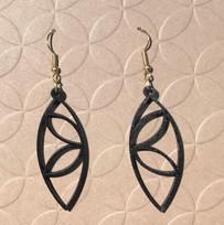 Laser cut wooden earrings.