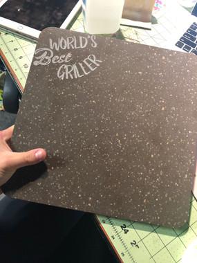 Custom engraved Trivet / Cutting Board