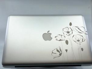Laser engraved MacBook Pro.